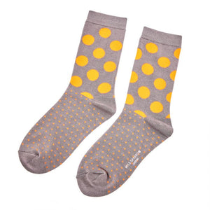Spots & Dots Socks - Grey