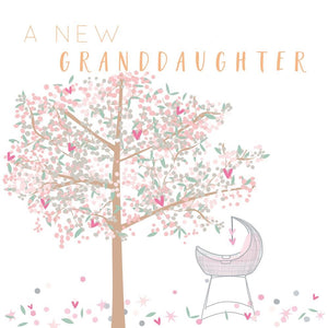 A New Grandaughter Greetings Card