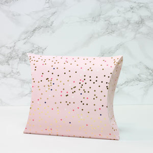 Bubble Pillowbox Large - Pink Spot