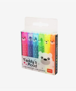 Teddy's Mood Mini Scented Highlighters Set of 6