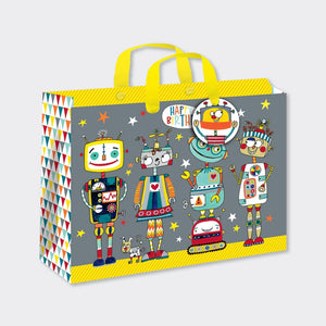 Rachel Ellen Designs children's gift bag robots