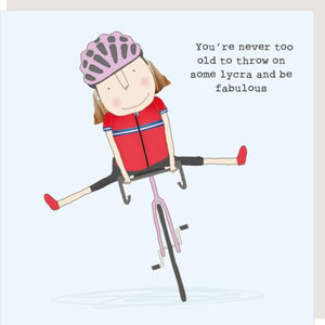 Lycra Girl Greetings Card