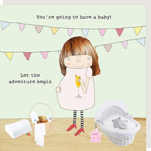 Rosie Made A Thing Baby Adventure Greetings Card new baby