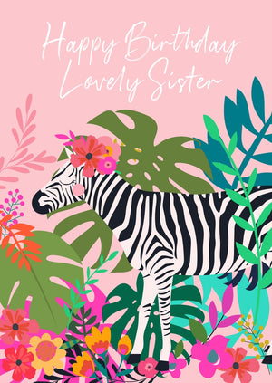 Wild Thing Lovely Sister Birthday Greetings Card