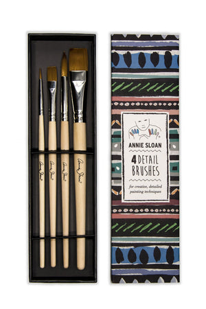 Annie sloan 4 detailed brush set