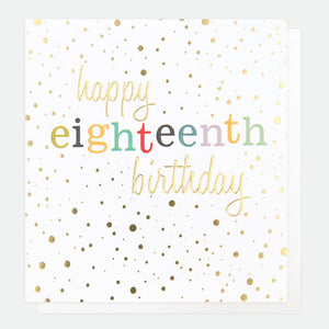 Caroline Gardner Happy 18th Birthday Greetings Card