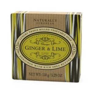 Naturally European 150g Soap - Ginger & Lime