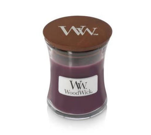 Woodwick Mini Glass Jar Candle Dark Poppy