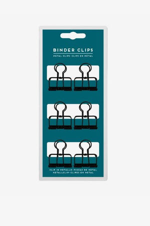Binder Metal Clips set of 6 - Medium bulldog clips