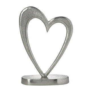 Parlane Open Silver Heart Ornament - Large