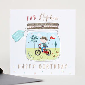 Fab Nephew Greetings Card