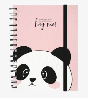 A4 3 in 1 Spiral Notebook - Cute Hug Me Panda