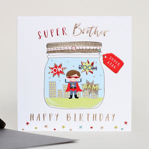 Super Brother Greetings Card