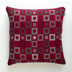Melin Tregwynt Welsh Madison Cushion - Berry