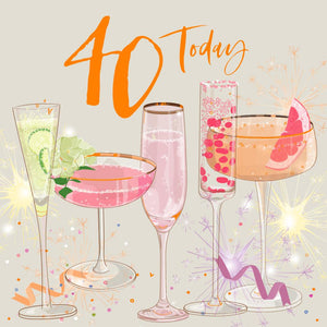 40 today birthday cocktails card