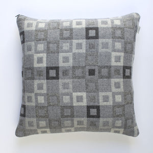 Melin Tregwynt Welsh Madison Cushion - Steel