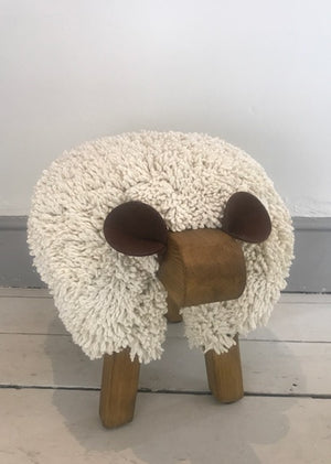 Ewemoo Sheep Footstool Ivory