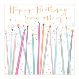 Large Luxe From All of Us Birthday Greetings Card