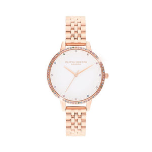 Olivia Burton Rainbow Bezel & Rose Gold Bracelet Watch