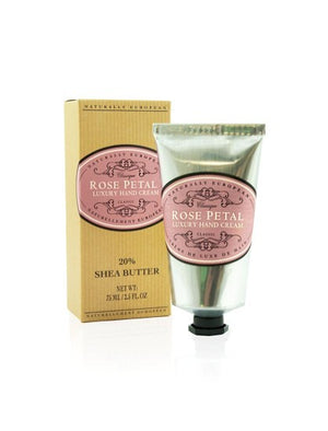 Naturally European Rose Petal Box and Silver Hand Cream Tube