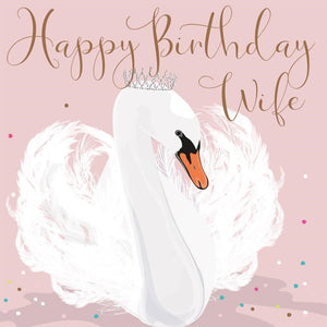 Coco Happy Birthday Wife Swan Greetings Card