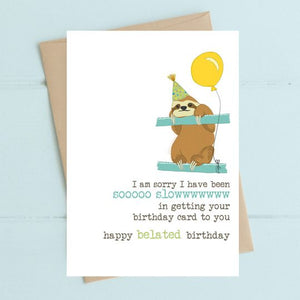 Belated Birthday Greetings Card
