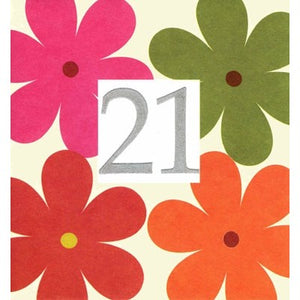 Caroline Gardner Age 21 Flowers Large Greetings Card