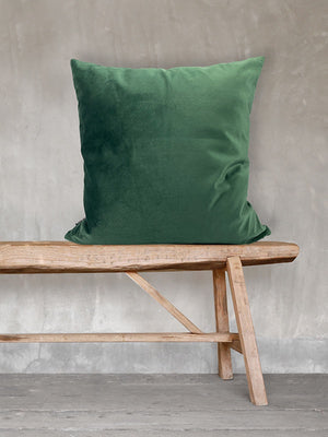 Velvet Square Cushion - Hunter Green