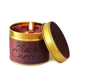 Lily Flame Black Cherry Candle Tin