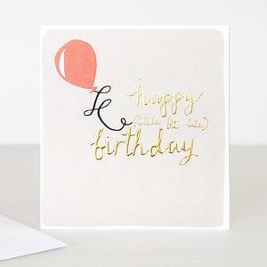 Caroline Gardner Birthday Balloon Greetings Card