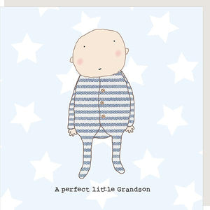 Rosie Made A Thing Perfect Grandson Greetings Card new baby