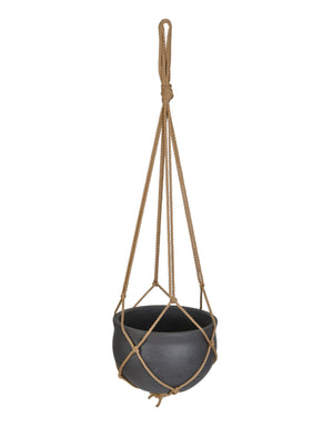 Stratton Hanging Pot - Carbon