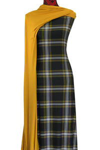 Black and Mustard Plaid - $17.50 pm - Double Brushed Poly