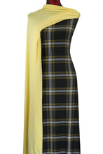 Load image into Gallery viewer, Black and Mustard Plaid - $17.50 pm - Double Brushed Poly