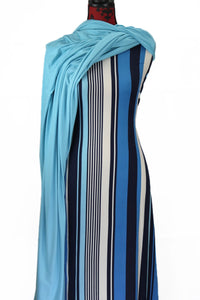Blue Stripes - $17.50 pm - Double Brushed Poly