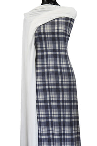 Blue & White Plaid - $17.50 pm - Poly Rayon Spandex