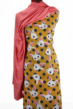 Load image into Gallery viewer, Bunnies in Mustard - $16.50 PM - Brushed Cotton Woven