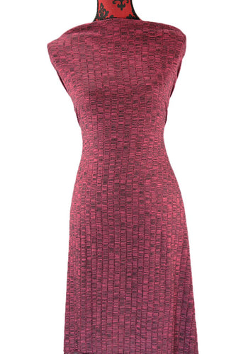 Burgundy Ribbed Sweater Knit -  $18.50 per metre