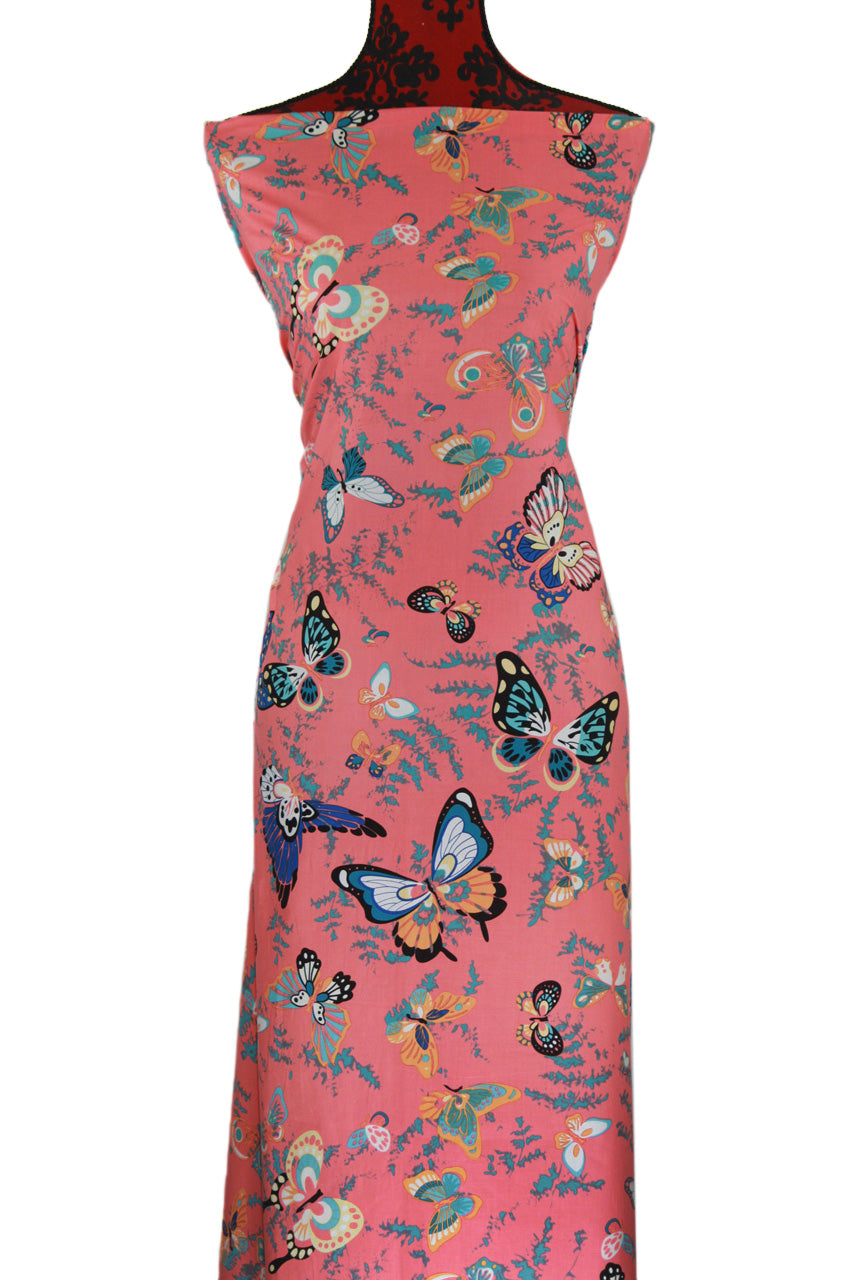 Butterfly in Coral - $17.50 - 100% Cotton