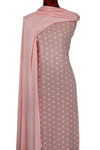 Load image into Gallery viewer, Pink Crosses 100% Cotton (Knit) -  $18.50 per metre