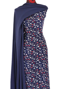 Desert Sky in Navy - $15.50 PM - Rayon Challis