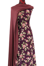 Load image into Gallery viewer, Flower Bomb in Burgundy - $17.50 pm - Double Brushed Poly