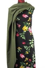 Load image into Gallery viewer, Flowers and Leaves -  $18.50pm - Rayon Spandex