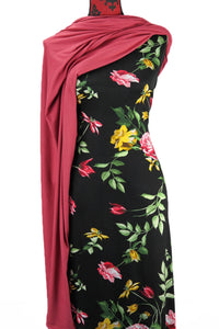 Flowers and Leaves -  $18.50pm - Rayon Spandex
