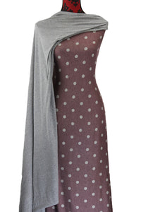 French Terry Dots on Heathered Merlot - $19.50 per metre - French Terry