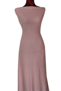 Pink Gingham - $19.50 per metre - French Terry