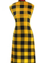 Load image into Gallery viewer, Yellow Buffalo Plaid -  $19.00 per metre - Hachi Sweater Knit