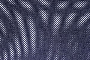 Tiny Dots in Navy -  $17.50 Per Metre - double brushed poly