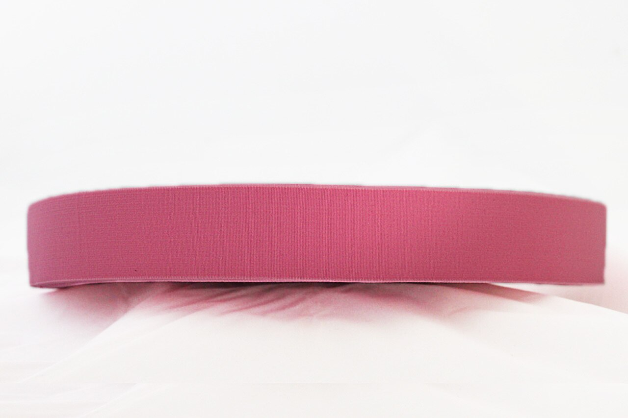 Pink 40mm wide Exposed Elastic - $5.00 per metre