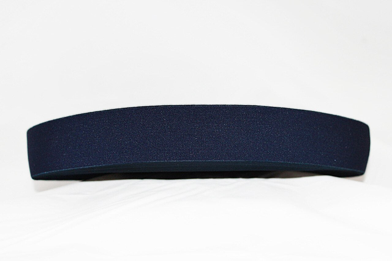 Navy 40mm wide Exposed Elastic - $5.00 per metre